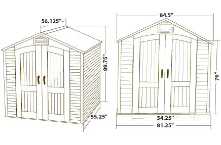 60057 Lifetime Shed Dimensions
