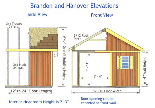 Brandon Storage Shed Dimensions