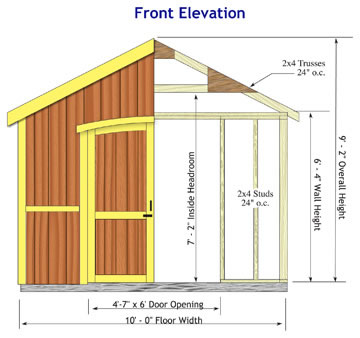 Cambridge Storage Shed Dimensions