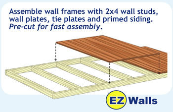 Wood Storage Shed Wall Frames