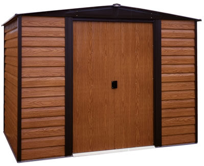 Arrow 8x6 Woodridge Steel Storage Shed Kit