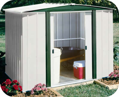 Arrow 8x6 Hamlet Metal Storage Shed Kit