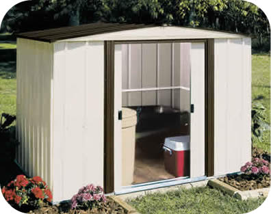 Arrow 8x6 Newburgh Metal Storage Shed Kit