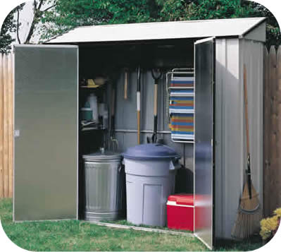 Arrow 7x2 Storage Locker Metal Storage Shed Kit