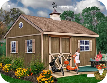 Best Barns New Castle 16x12 Wood Storage Shed