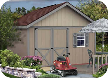 Brandon 12x16 Wood Storage Shed Kit