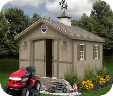 Cambridge 10x12 Wood Storage Shed Kit
