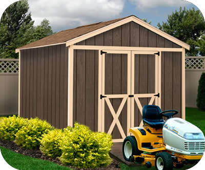 Danbury 8x12 Wood Storage Shed Kit