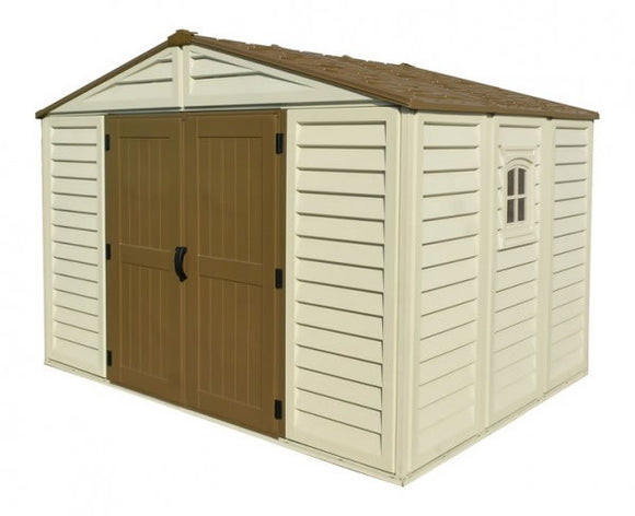 DuraMax 10x10 Woodbridge Plus Shed Kit w/ Foundation