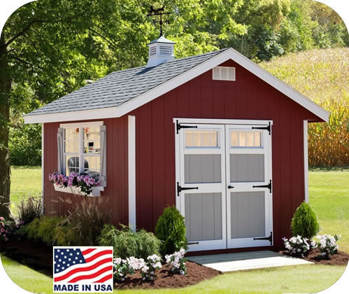 EZ-Fit Homestead 8x8 Wood Storage Shed Kit