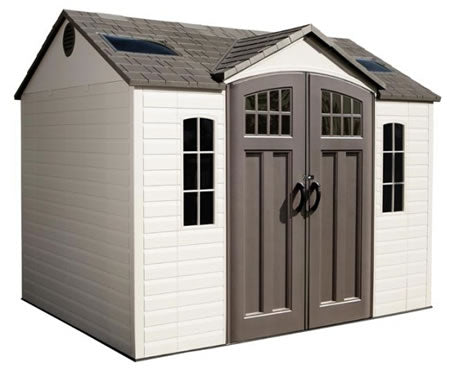 Lifetime 10x8 Plastic Storage Shed w/ Floor