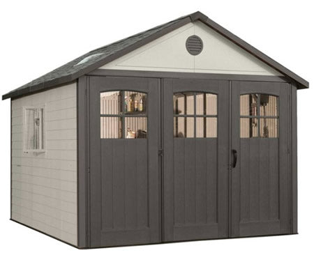 Lifetime 11x11 Plastic Storage Shed w/ 9' doors