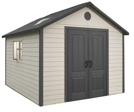 Lifetime 11x13 Plastic Storage Shed with Floor