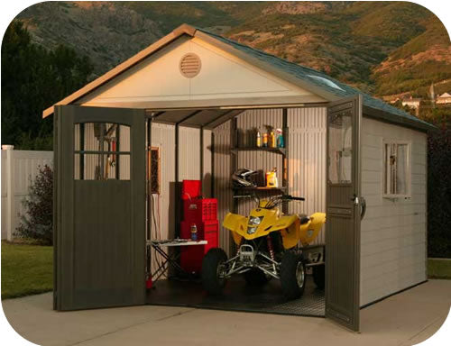 Lifetime 11x13 Plastic Storage Shed w/ 9' doors [60187 / 0125]