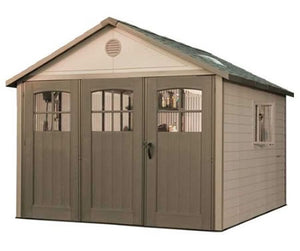 Lifetime 11x18 Plastic Storage Shed w/ 9' doors