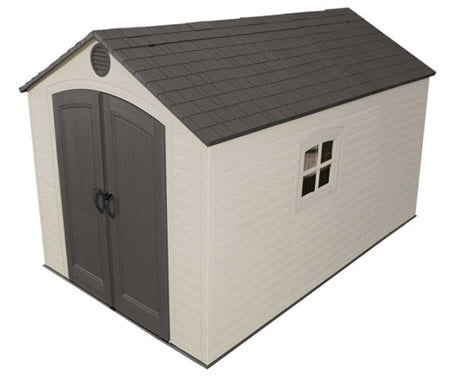 Lifetime 8x12 Plastic Storage Shed with Floor