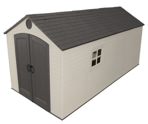Lifetime 8x15 ft Plastic Storage Shed Kit - 2 windows