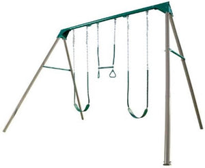 Lifetime Heavy-Duty A-Frame Metal Swing Set Kit - Earthtone