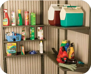 Lifetime 30x10 inch Shelf Kit for 11 ft Storage Sheds
