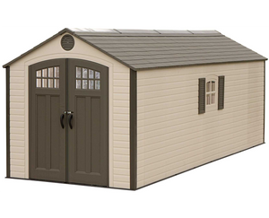 Lifetime 8x20 Plastic Storage Shed Kit w/ 2 Windows