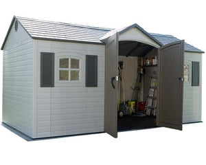 Lifetime 15x8 Plastic Storage Shed with Floor