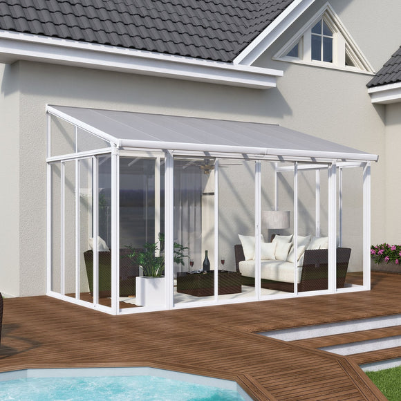 Palram 13x14 San Remo Patio Enclosure Kit - White