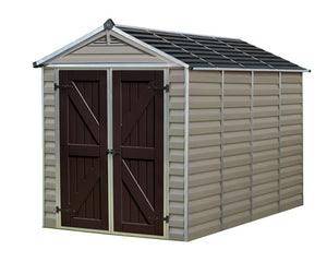 Palram 6x10 Skylight Storage Shed Kit - Tan