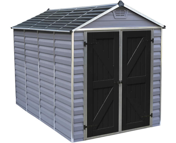 Palram 6x10 Skylight Storage Shed - Gray
