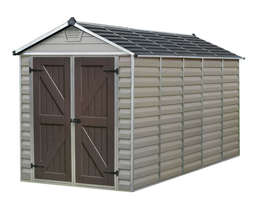 Palram 6x12 Skylight Storage Shed Kit - Tan
