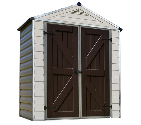 Palram 6x3 Skylight Storage Shed Kit - Tan