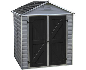 Palram 6x5 Skylight Storage Shed Kit - Gray
