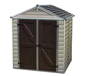 Palram 6x5 Skylight Storage Shed Kit - Tan