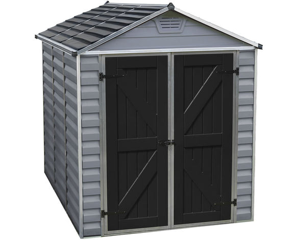 Palram 6x8 Skylight Storage Shed Kit - Gray