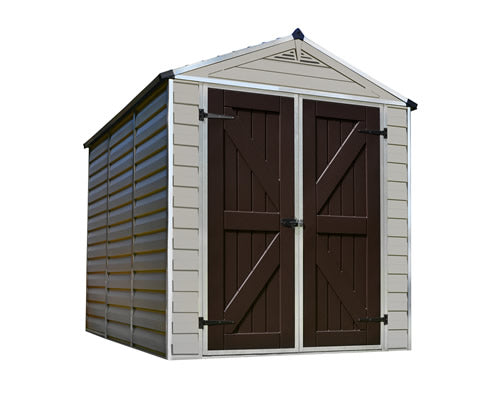 Palram 6x8 Skylight Storage Shed Kit - Tan