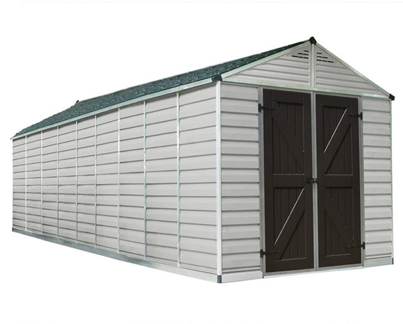 Palram 8x20 Skylight Storage Shed Kit - Tan