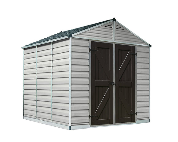 Palram 8x8 Skylight Storage Shed Kit - Tan