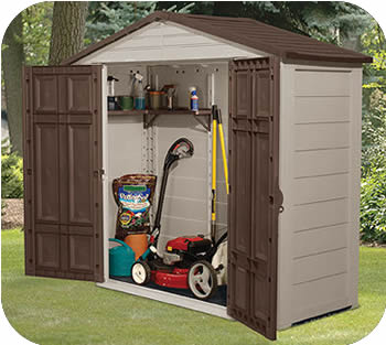 Suncast 8x3 Resin Plastic Storage Shed w/ Floor