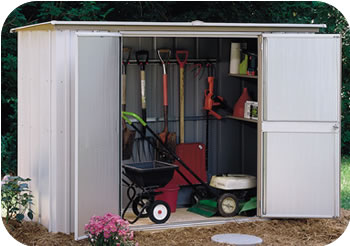 Arrow 8x3 Garden Storage Shed Kit