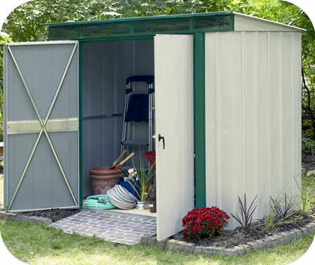 Arrow EuroLite 8x4 Steel Lean-To Shed Kit w/ Skylights