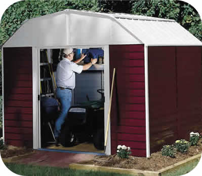 Arrow 10x14 Red Barn Metal Storage Shed Kit