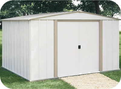 Arrow 10x8 Salem Metal Storage Shed Kit
