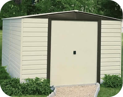 Arrow 10x8 Vinyl Dallas Storage Shed Kit