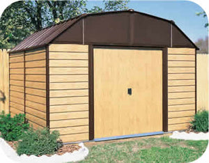 Arrow 10x9 Woodhaven Metal Storage Shed Kit