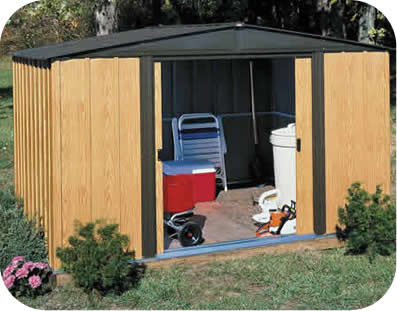Arrow 10x8 Woodlake Metal Storage Shed Kit
