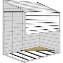 Arrow Sheds 4x7 or 4x10 Yardsaver Shed Floor Kit