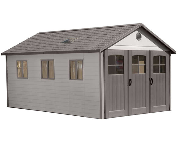 Lifetime 11x21 Plastic Storage Shed w/ 9' Doors