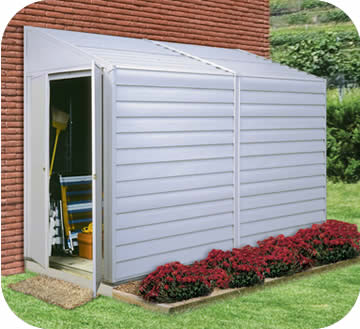Arrow 4x10 Yardsaver Metal Storage Shed Kit