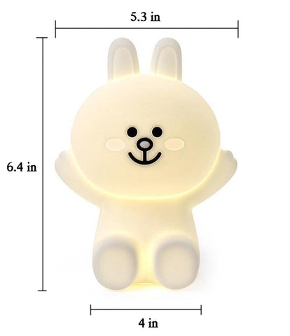 """<img src=""""nightlight.png"""" alt=""""teddy bear led night light with different facial expressions at bedside"""">"""