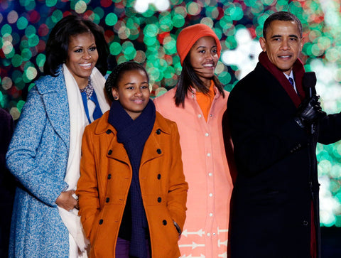 barack obama and his wife michelle obama and their daughters