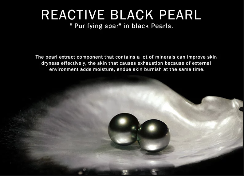 Black Pearl Gel Eye Mask Crystal With Hyaluronic Acid Collagen Natural Essence Under-Eye Patches Anti-Aging Hydrate Moisturizer